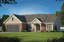 Dream House Plan - Traditional Exterior - Front Elevation Plan #20-1378