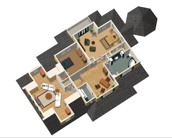 Country Floor Plan - Upper Floor Plan Plan #25-4686