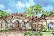 Mediterranean Style House Plan - 3 Beds 3.5 Baths 3508 Sq/Ft Plan #27-262