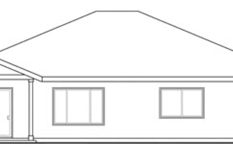 Traditional Exterior - Rear Elevation Plan #124-822 - Houseplans.com