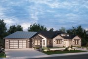 Ranch Style House Plan - 3 Beds 2 Baths 2128 Sq/Ft Plan #1077-4 Exterior - Front Elevation