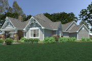 Cottage Style House Plan - 3 Beds 2.5 Baths 2662 Sq/Ft Plan #120-252 Exterior - Rear Elevation