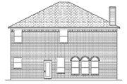 European Style House Plan - 4 Beds 2.5 Baths 2367 Sq/Ft Plan #84-336 Exterior - Rear Elevation