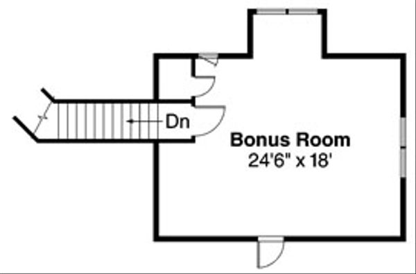 Ranch Floor Plan - Upper Floor Plan Plan #124-543