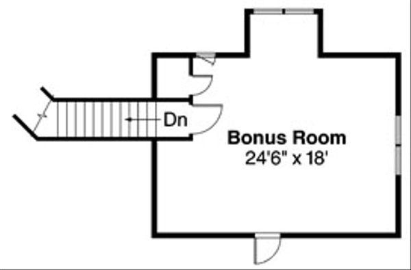 Ranch Floor Plan - Upper Floor Plan Plan #124-543