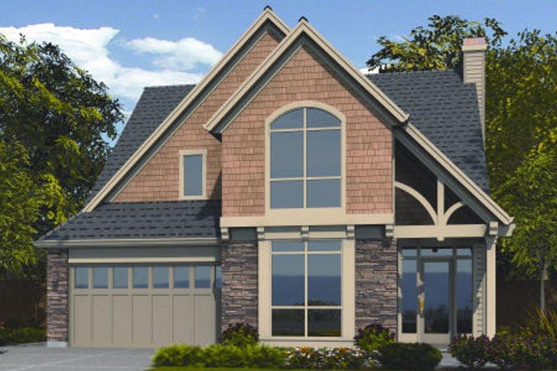 Craftsman Exterior - Front Elevation Plan #48-252