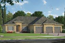 House Plan Design - Mediterranean Exterior - Front Elevation Plan #20-2256