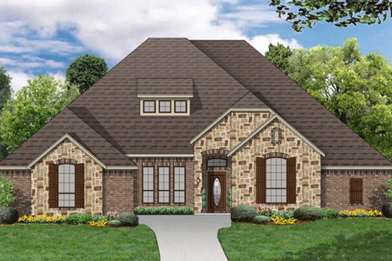European Exterior - Front Elevation Plan #84-572 - Houseplans.com