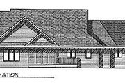 Traditional Style House Plan - 3 Beds 2.5 Baths 2040 Sq/Ft Plan #70-293 Exterior - Rear Elevation