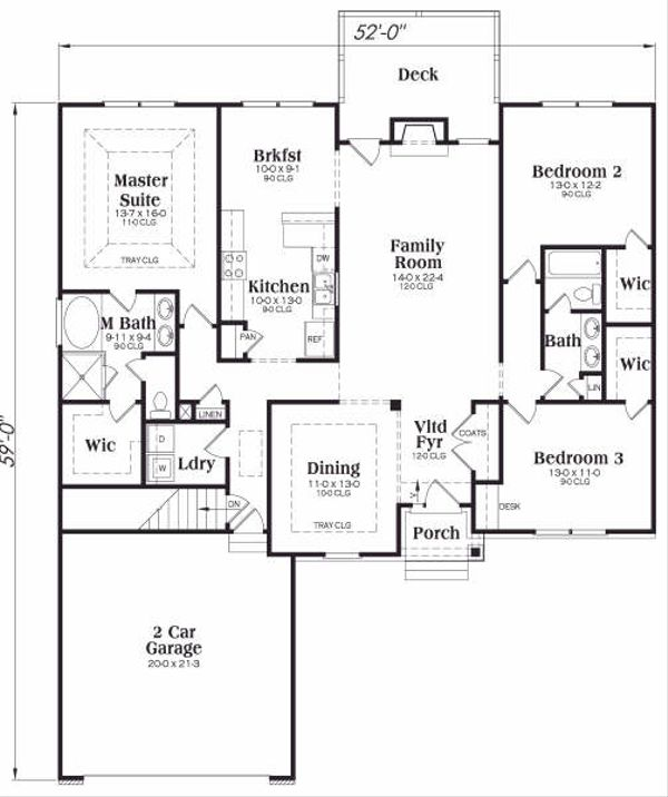 Traditional Floor Plan - Main Floor Plan Plan #419-128