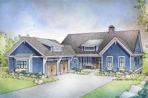 Farmhouse Exterior - Front Elevation Plan #928-301