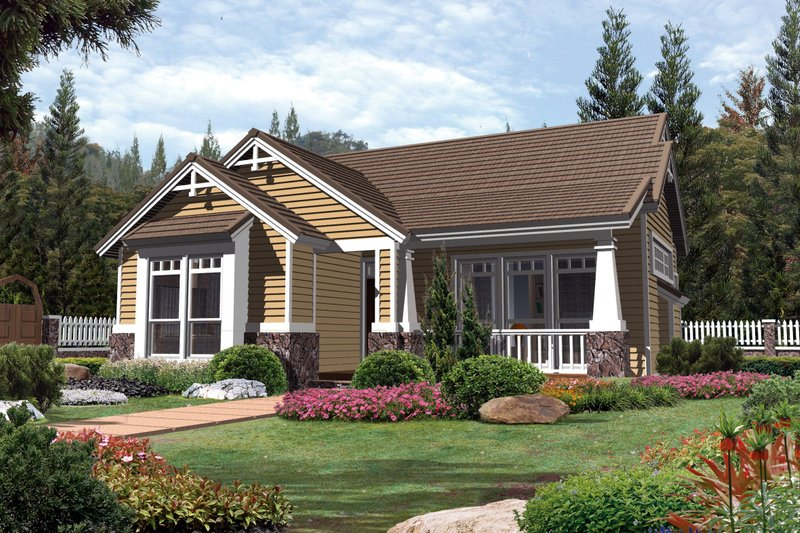 Craftsman Exterior - Front Elevation Plan #48-268