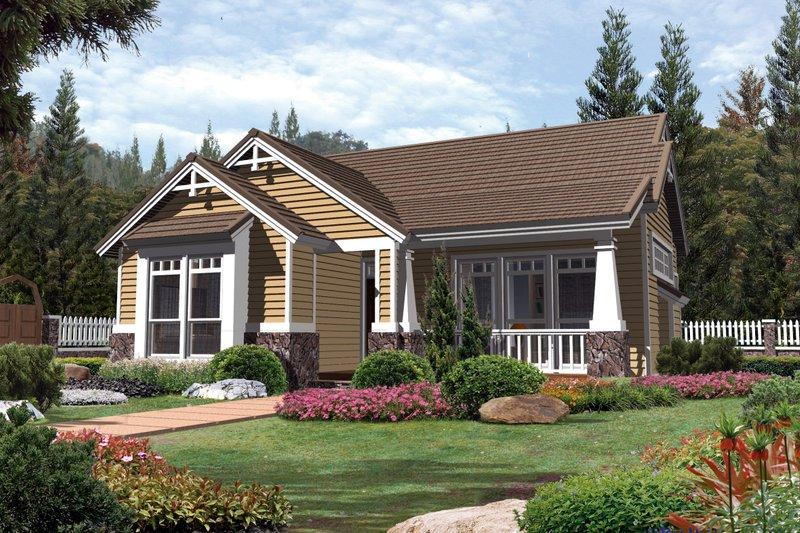 Craftsman Exterior - Front Elevation Plan #48-268 - Houseplans.com