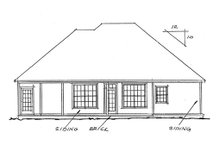 House Plan Design - Traditional Exterior - Rear Elevation Plan #20-118