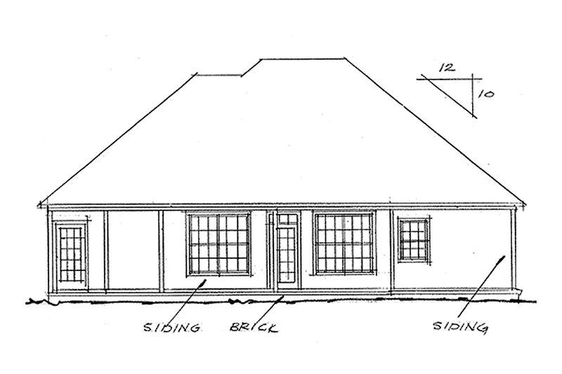Traditional Exterior - Rear Elevation Plan #20-118 - Houseplans.com