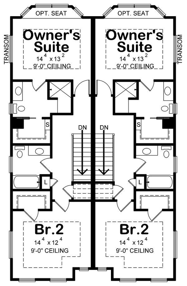 Traditional Floor Plan - Upper Floor Plan #20-2465
