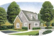 Cottage Style House Plan - 1 Beds 1 Baths 581 Sq/Ft Plan #410-165 Exterior - Front Elevation
