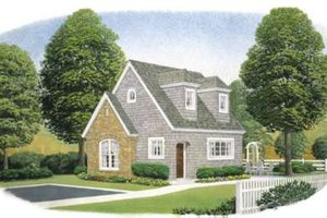 Cottage Exterior - Front Elevation Plan #410-165