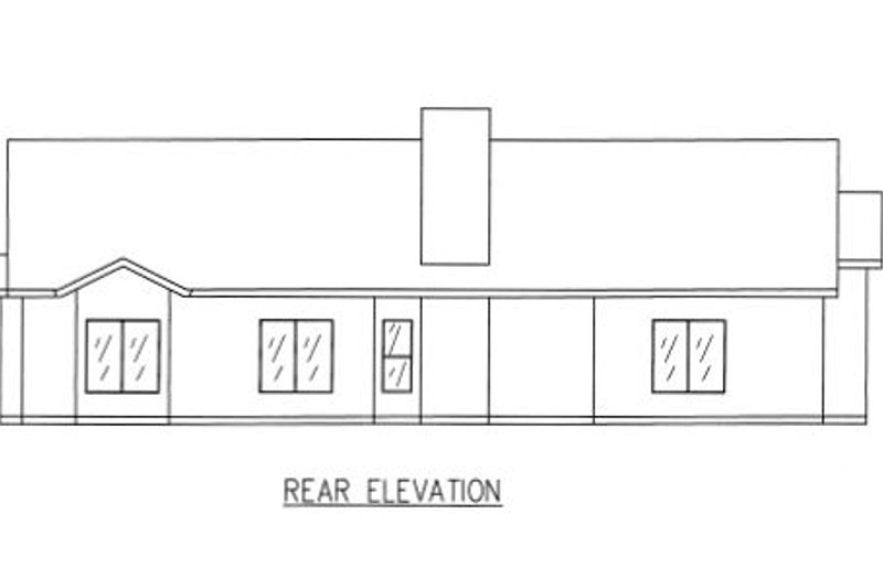 Traditional Exterior - Rear Elevation Plan #437-28 - Houseplans.com