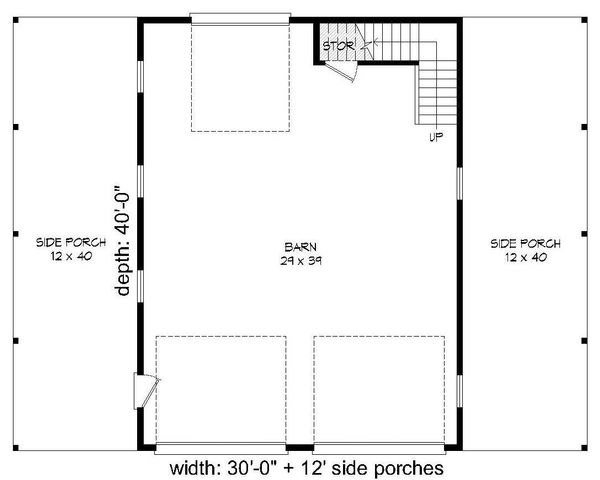 Farmhouse Floor Plan - Main Floor Plan Plan #932-31