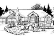 Traditional Style House Plan - 6 Beds 4.5 Baths 4615 Sq/Ft Plan #308-109 Exterior - Front Elevation