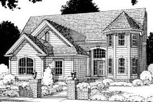Home Plan Design - Traditional Exterior - Front Elevation Plan #20-305