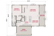 Craftsman Style House Plan - 3 Beds 2.5 Baths 1664 Sq/Ft Plan #461-64 Floor Plan - Main Floor Plan