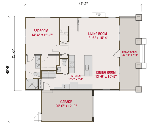Craftsman Floor Plan - Main Floor Plan Plan #461-64