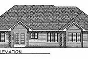 Traditional Style House Plan - 3 Beds 2 Baths 1984 Sq/Ft Plan #70-261 Exterior - Rear Elevation