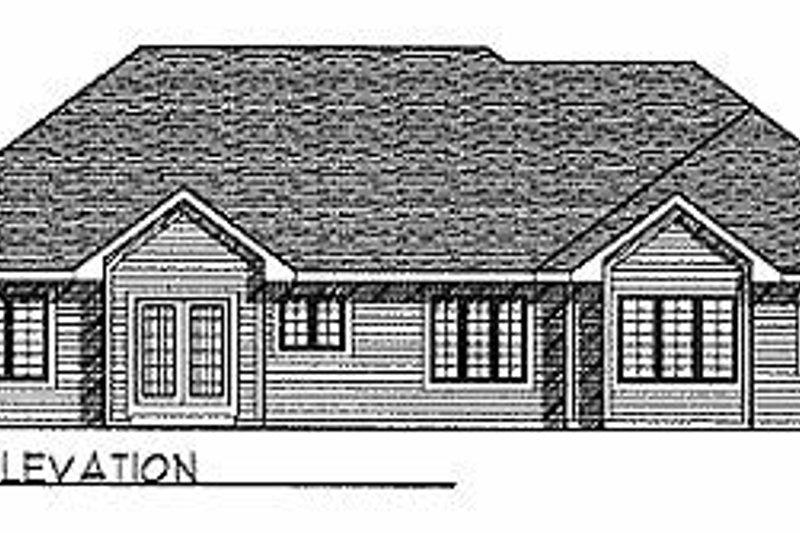 Traditional Exterior - Rear Elevation Plan #70-261 - Houseplans.com
