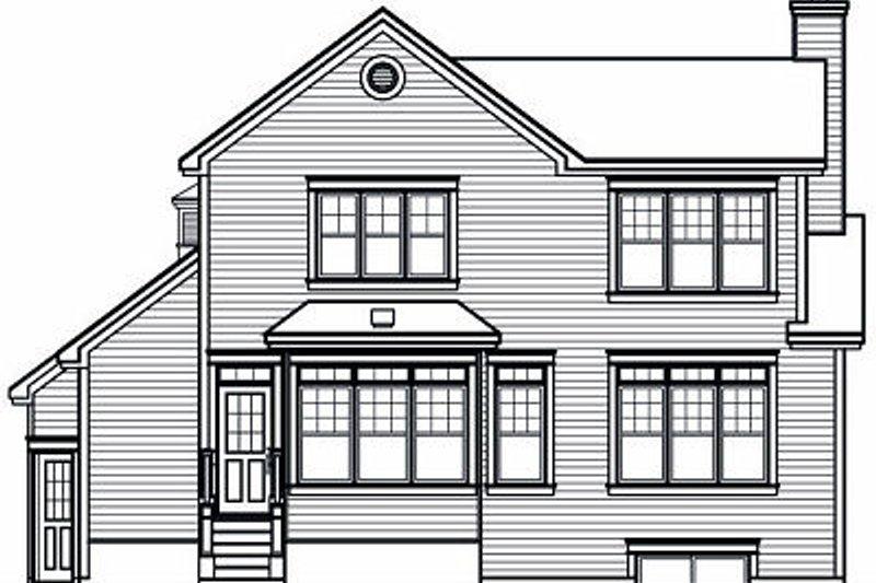 Farmhouse Exterior - Rear Elevation Plan #23-722 - Houseplans.com