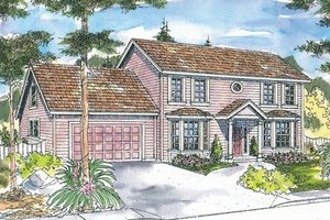 Colonial Exterior - Front Elevation Plan #124-715