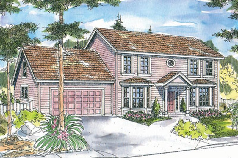 Dream House Plan - Colonial Exterior - Front Elevation Plan #124-715