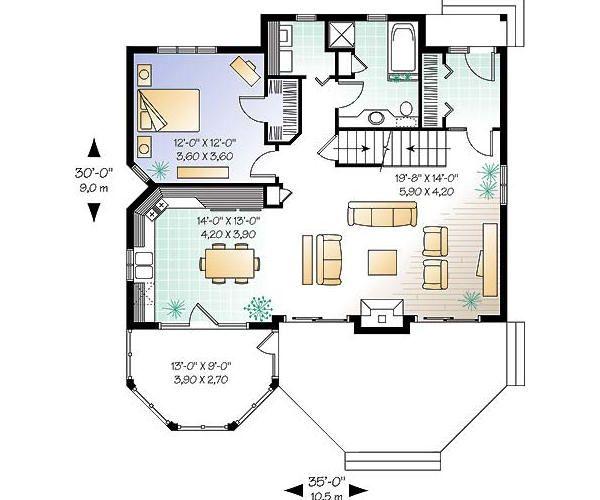 Floor Plan - Main Floor Plan Plan #23-758