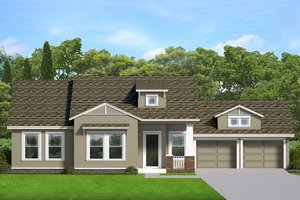 House Blueprint - Ranch Exterior - Front Elevation Plan #1058-188