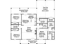 Country Floor Plan - Main Floor Plan Plan #21-449