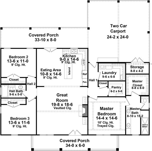 Country Floor Plan - Main Floor Plan Plan #21-449