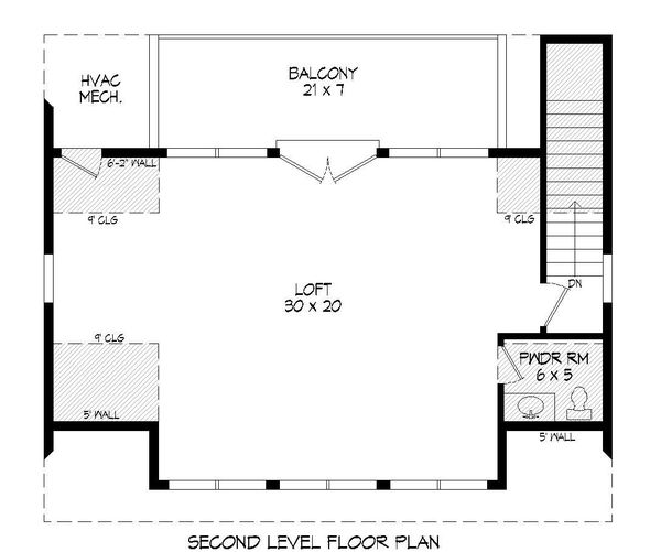 Contemporary Floor Plan - Upper Floor Plan Plan #932-239