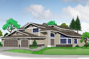 Craftsman Exterior - Front Elevation Plan #515-30