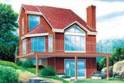 House Plan - 2 Beds 2 Baths 1080 Sq/Ft Plan #25-2294 Exterior - Front Elevation