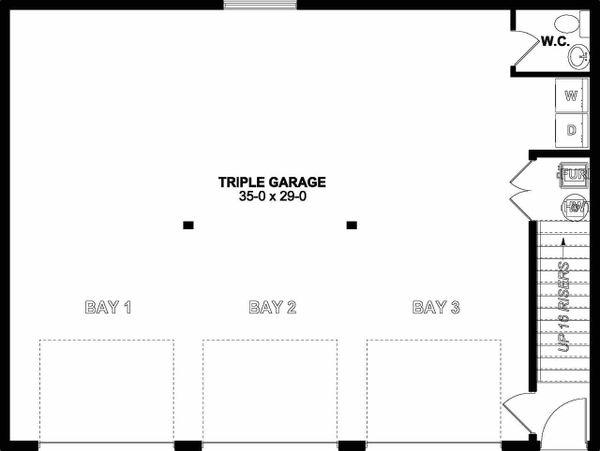 Traditional Floor Plan - Lower Floor Plan #126-162