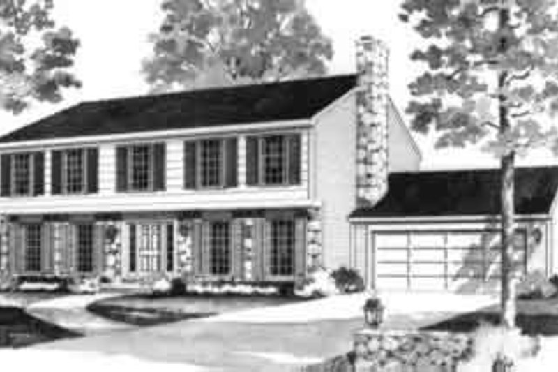 Colonial Exterior - Front Elevation Plan #72-441