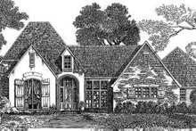 European Exterior - Front Elevation Plan #301-110