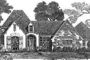 Dream House Plan - European Exterior - Front Elevation Plan #301-110