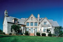 House Plan Design - European Exterior - Rear Elevation Plan #453-47