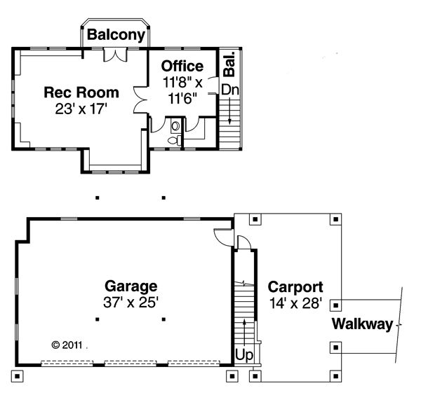Craftsman Floor Plan - Other Floor Plan Plan #124-674