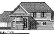 Traditional Style House Plan - 3 Beds 2.5 Baths 2439 Sq/Ft Plan #70-390 Exterior - Rear Elevation