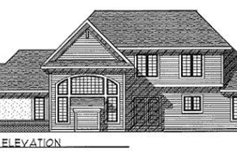 Traditional Exterior - Rear Elevation Plan #70-390 - Houseplans.com