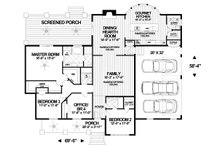 Craftsman Floor Plan - Main Floor Plan Plan #56-713