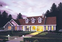 Dream House Plan - Country Exterior - Front Elevation Plan #57-125